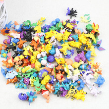 144 Different Style Anime Pocket Monster Random Figure Cute Mini Pikachu Charizard Cartoon Model Doll Sets Kids Birthday Gifts