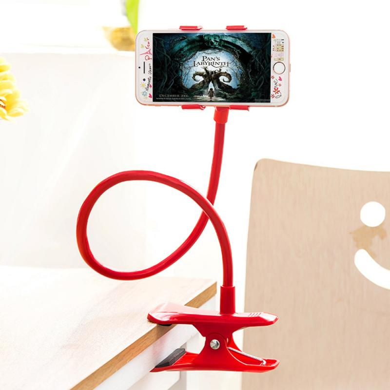 Long Flexible 360 Clip Mobile Cell Phone Holder Multiple Colorful Lazy Bed Desktop Bracket Mount Stand for IPhone for Samsung