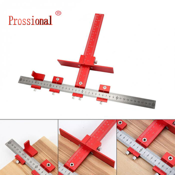 Furniture Adjustable Drilling Dowelling Hole Saw Locator Woodworking Joinery Hand Tool Multi-function Drill Punch