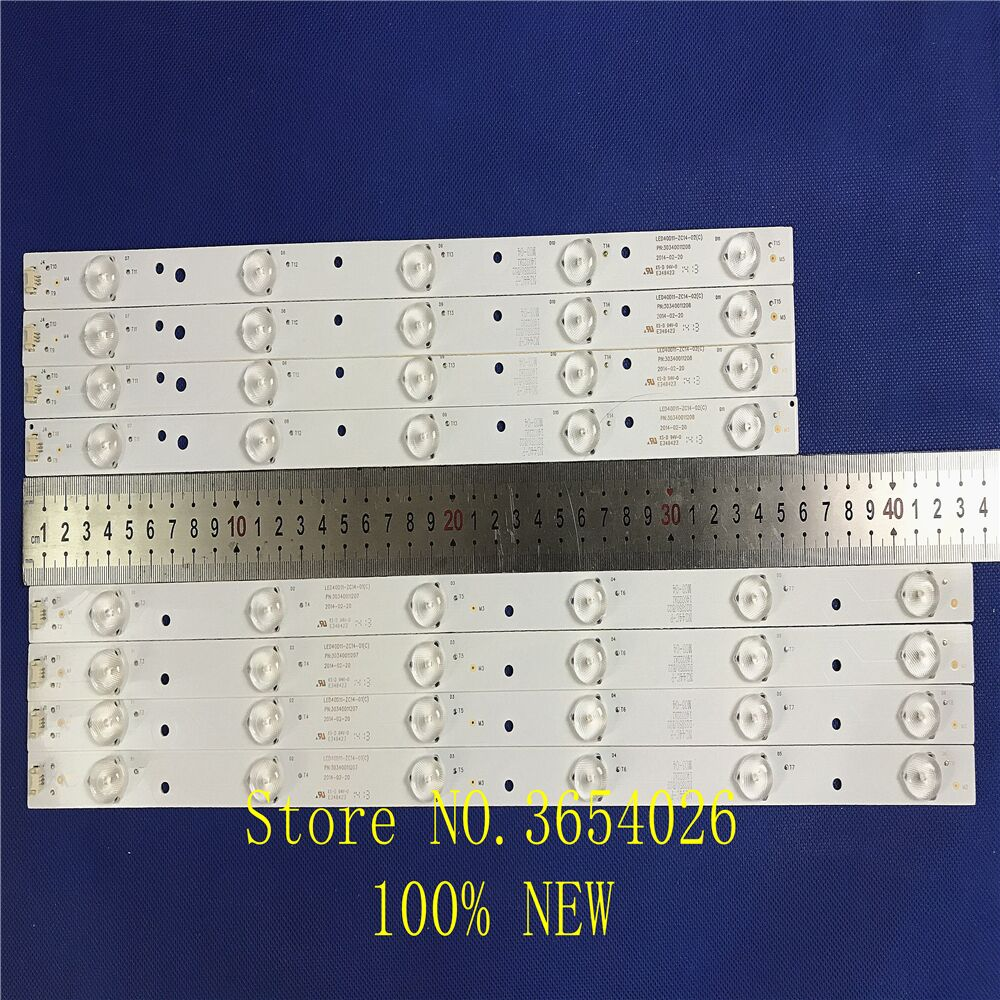 8pcs/set LED BacklightL Strip For LE40F3000W Light Bar LT-40M645 LSC400HM06-8 LED40D11-ZC14-01 LED40D11-ZC14-02 3034001120