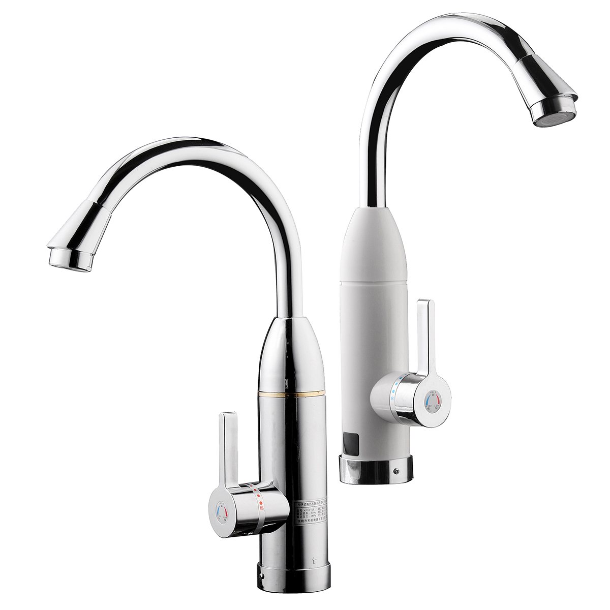 Newest Stainless Steel 220v 3000w Water Heater Faucet Kitchen Electric Water Heating Tap Instant Hot Faucet Heaters