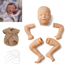 Doll-Kit Bebe Reborn Baby 17 Inches Darren Lifelike Gentle Touch Cloth Body Vinyl Unpainted Unfinished Blank DIY Parts Toy
