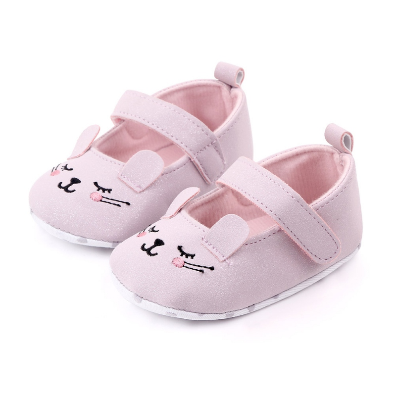 Baby Girl Shoes Fashion Toddler Infant Anti-slip Cute Cat Cotton Cloth First Walkers Shoes Kids Footwear Shoes 0-12M