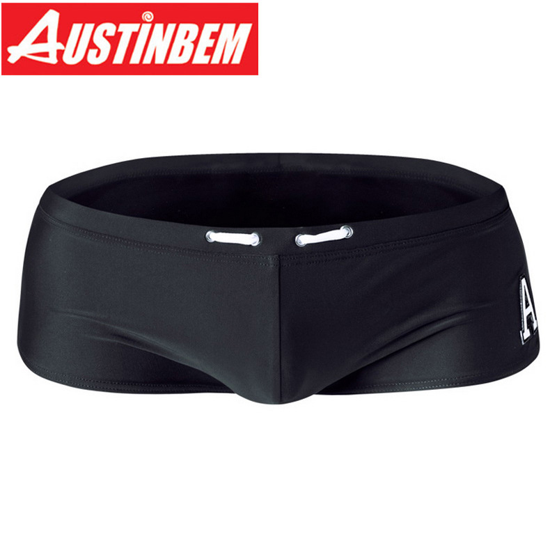 AUSTINBEM Shorts Swimsuit Boxer-Trunks Gay Sexy Sunga Hot Man Summer Letter Men 219