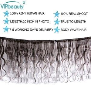Image 2 - VIP יופי פרואני גוף גל 100% שיער טבעי Weave חבילות 10 28inch טבעי צבע 1B רמי הארכת שיער משלוח חינם