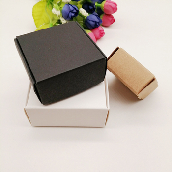 10pcs Black/White/Kraft Paper Boxes Packaging Jewelry Box for Necklace Packaging Jewelry Display Storage Small Paper Gift Boxes 50pcs windowed cupcake boxes white brown kraft paper box gift packaging for wedding festival party 6 cup cake holders customized