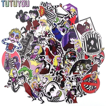 PC258 38pcs/set Ghost Sticker Waterproof For Laptop Moto Skateboard Luggage Guitar Furnitur Decal Stickers 50pcs newly movie it chapter two joker anime sticker cartoon for skateboard guitar laptop luggage furnitur decal toy stickers