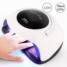 SUN BQ5T lampa UV LED Nails suszarka 120W Ice lampa do Manicure Pedicure paznokci żel lakier światło ultrafioletowe suszarka pielęgnacja paznokci Salon(China)