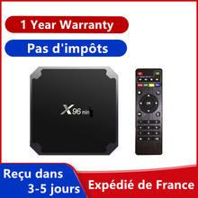 Melhor caixa de iptv x96 android 9.0 tv mini caixa 1gb 8gb 2gb 16gb smart tv media player x96 definir caixa superior navio da frança
