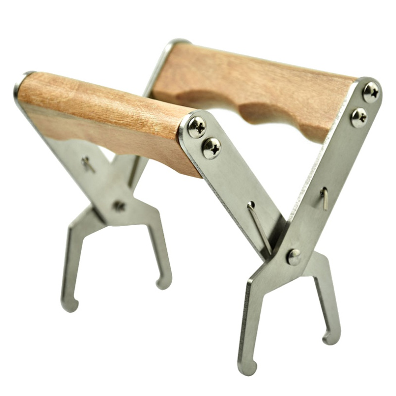 Wooden Handle Stainless Steel Beehive Frame Grip Holder Lift Gripper Tool Beekeeping Supplies