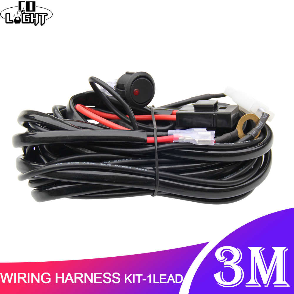 CO LIGHT Car LED Light Bar Wire 3M 12V 24V 40A Wiring Harness Relay Loom  Cable Kit Fuse for Auto Driving Offroad Led Work Lamp|Light Bar/Work Light|  - AliExpressAliExpress