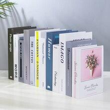 Скандинавские современные поддельные книги реквизит имитация книги спальня винный шкаф книжные полки с орнаментом ремесла магазин украшение для книжного шкафа дисплей
