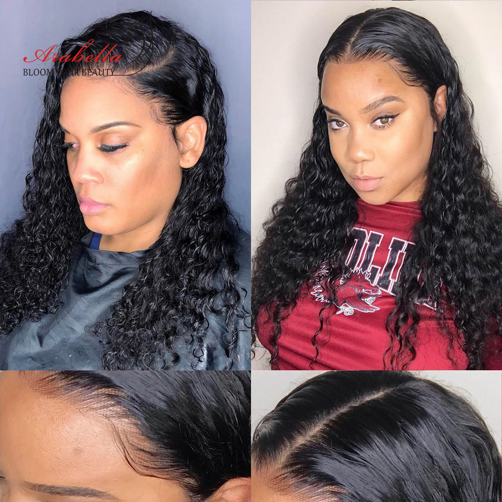 13*4 Water Wave Lace Front Wig Pre Plucked Bleached Knots  Wigs For Woman Arabella  Lace Frontal Wig 3