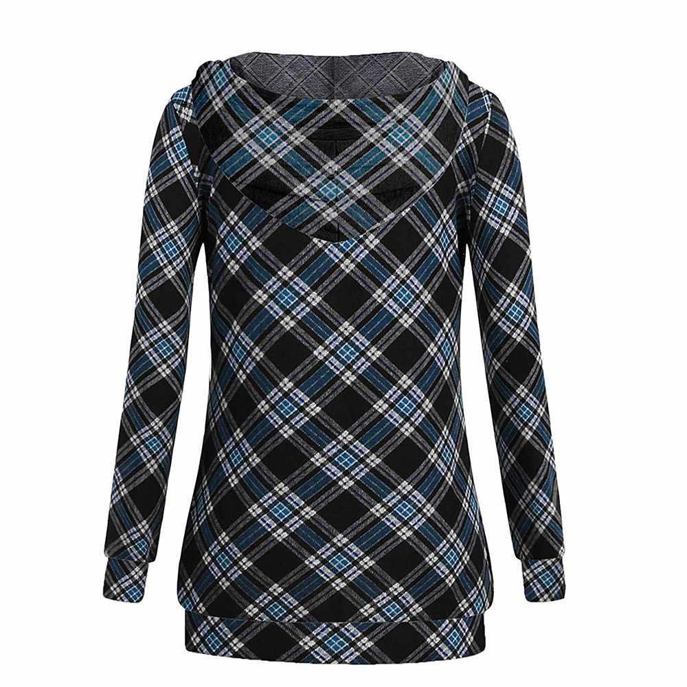 TELOTUNY Meternity Plaid Hoodies Abrigo con capucha de invierno para mujeres embarazadas chaqueta de transporte de bebé abrigos ropa de maternidad 927