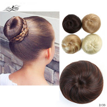 Xuanguang faixa de borracha reta scrunchie пончик-шиньон обертывание cabelo fibra de alta temperatura pedas de cabelo sintético marrom