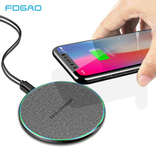Quick 15W Qi Wireless Charger For Huawei P30 Pro Xiaomi 9 10W Fast Charging Pad iPhone XS XR X Samsung S10 S9