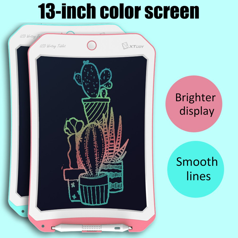 Lcd Tablet 13 Inch Children Graffiti Painting Small Chalkboard Light Draft Board Electronic Board Gift