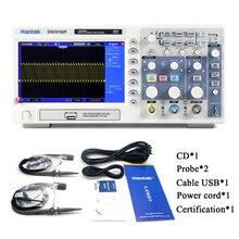 Hantek dso5102p osciloscópio, digital de armazenamento usb original 2 canais 100mhz 1gsa/s de frete