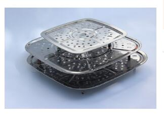 Special Electric Steamer Steaming Piece Supporting Stainless Steel Square Steaming Plate Steaming Grid Steaming Rack Steaming Cu