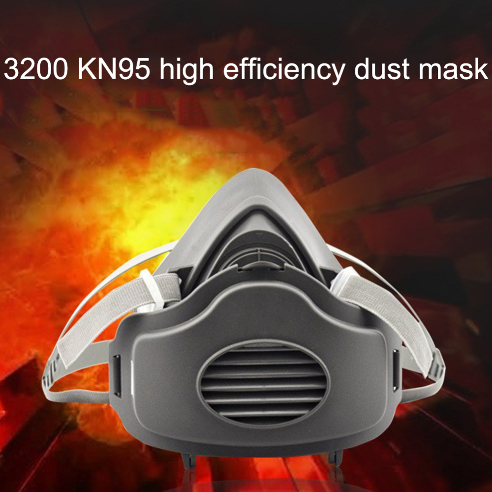 3200 Dust Mask Half Face Gas Mask Dust-proof High Efficiency Filters Protective Industrial Anti PM2.5 Respirator Dust Mask