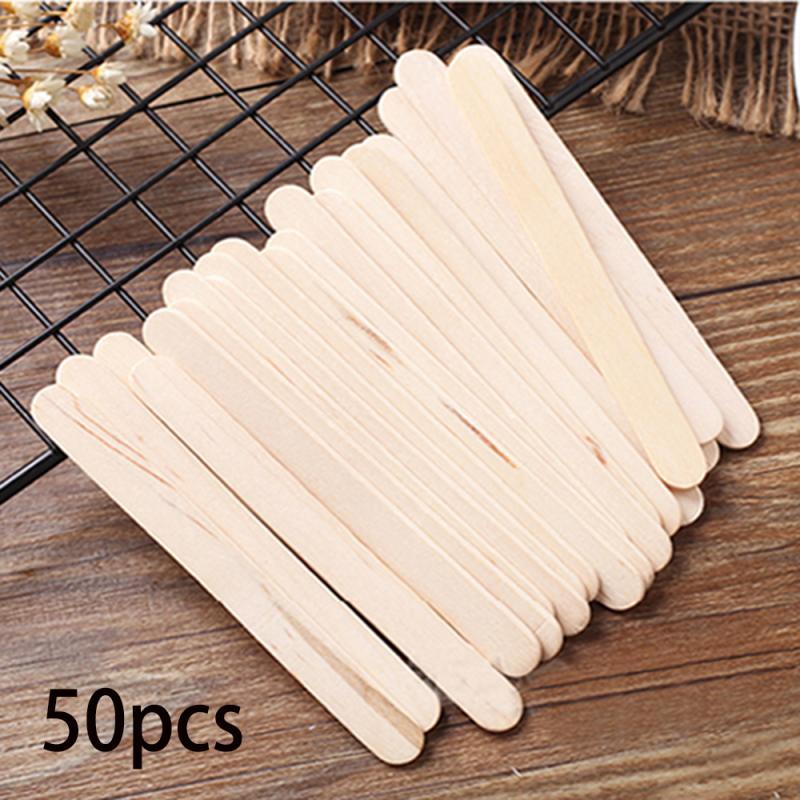 Деревянные палочки для мороженого 50 шт./лот, палочки для мороженого, палочки «сделай сам» для детей, ручная работа, художественные игрушки, ф...