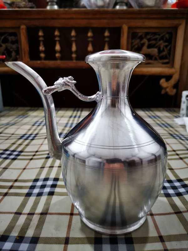 1pcs Wedding dowry  Pure tin Handmade Flagon  Wine pot Wedding supplies Wedding decoration