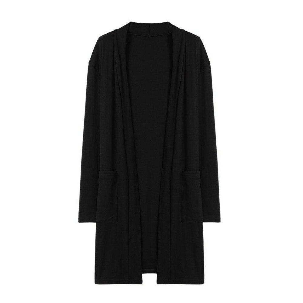 Sexy Autumn Winter Coat Women Casual Solid Color Coat Womens Long Sleeve Cardigan Coat Womens Manteau Femme#Z30