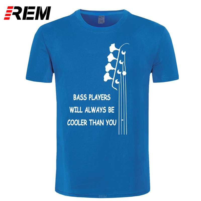 REM New Summer Style Bass Guitar Players Are Cool T-shirt Funny Double Rhythm Electric T Shirt Men Short Sleeve Top Tees