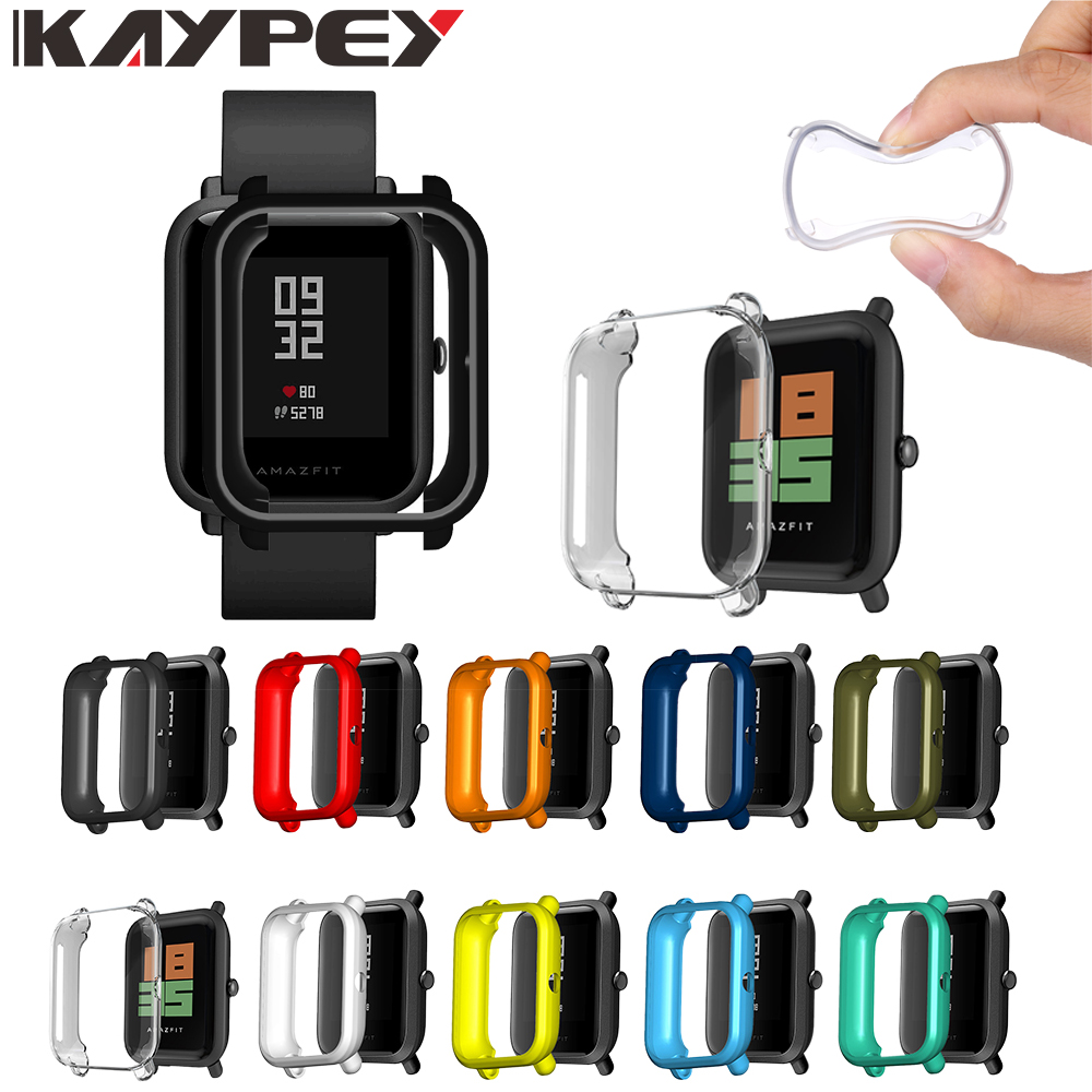 Soft TPU Protection Silicone Case Cover For Xiaomi Huami Amazfit Bip Youth Lite WatchSmart Accessories Protector Frame