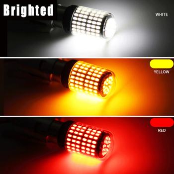 1pc 3014 144SMD CanBus S25 1156 BA15S P21W LED BAY15D BAU15S PY21W lampa T20 LED 7440 W21W W21 5W Led żarówki projekcyjne włączony kierunkowskaz tanie i dobre opinie CN (pochodzenie) Turn Signal 2100lm T20 (7440) Uniwersalny support