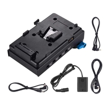 V Mount V-Lock Battery Plate Adapter with 15Mm Dual Hole Rod Clamp Np-Fw50 Dummy for Bmcc Bmpcc Sony A7 A7S A7R