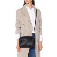 Sac tissé pour femmes, petit sac carré en peau de mouton, petit sac à bandoulière, derme interne et externe, à bandoulière