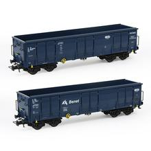 1 шт/2 шт хо масштаб 1: 87 открытый Гондола автомобиль железнодорожный вагон транспортер модель поезда контейнер перевозки грузовой автомобиль C8742