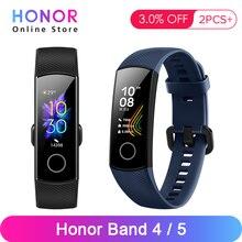 Huawei honor band 4 banda 5 0.95 polegadas amoled tela colorida 5atm impermeável nadar postura detectar freqüência cardíaca sono snap