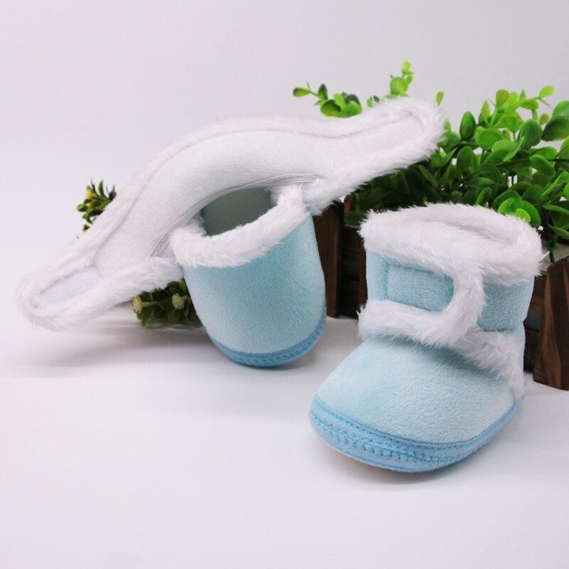 Chaud nouveau-né enfant en bas âge bottes hiver premiers marcheurs bébé filles garçons chaussures semelle souple fourrure neige chaussons pour 0-18M 4