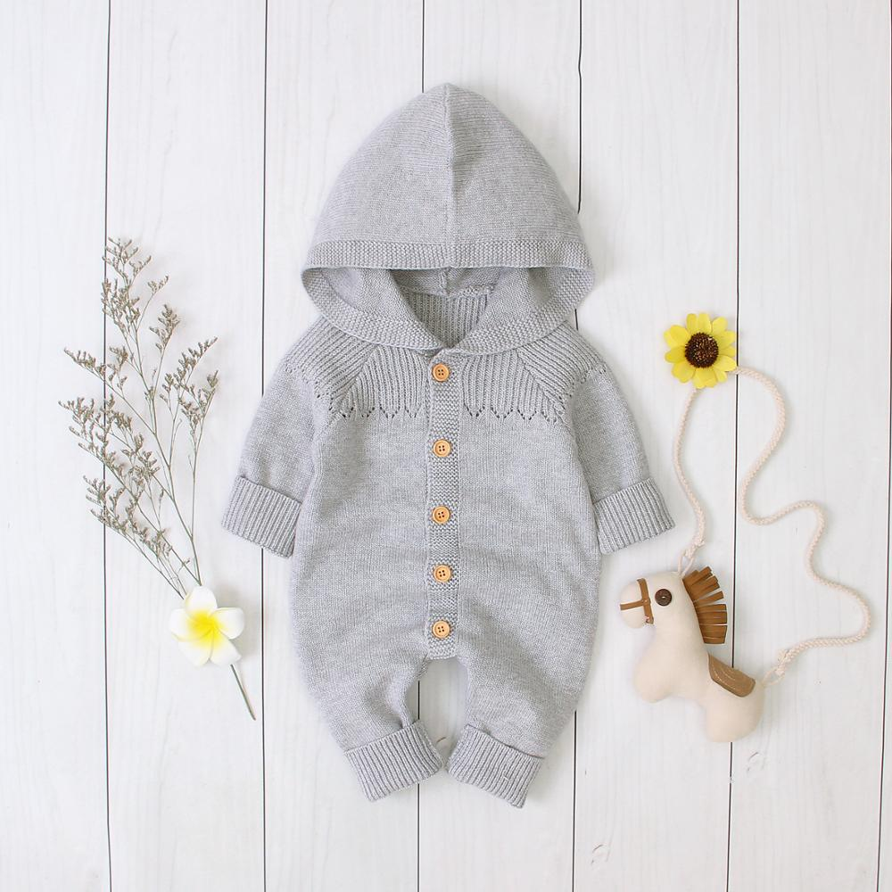 Baby Girls Rompers Clothes Autumn Knitted Infant Boys Jumpsuits Long Sleeve Children's One Piece Overalls 0-18M Newborns Outfits