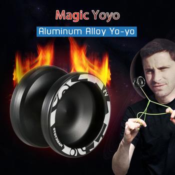 Magic Yoyo V3 responsywna szybkobieżna tokarka CNC ze stopu aluminium yo-yo z sznurek do kręcenia wąskie łożysko o rozmiarze C profesjonalne Yoyo tanie i dobre opinie CN (pochodzenie) Metal 113 cm Unisex Wklęsłe wzór Wielowarstwowe połączenie typu 8 lat 55 mm