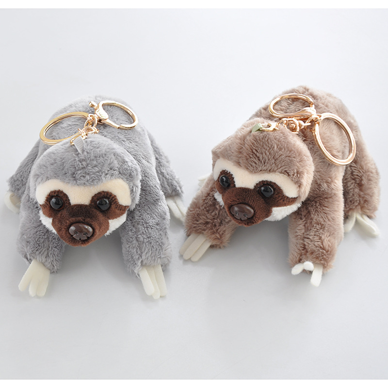Image 4 - 12cm Cute Lying Sloth Plush Bag Pendant Staffed Kawaii Animal Plush Toys for Kids Children Lovely Doll Key Chains Gift-in Stuffed & Plush Animals from Toys & Hobbies