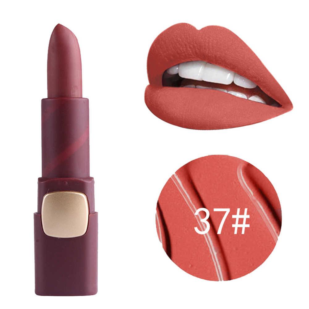 Miss rose color mate lápiz labial 18 colores duradera hidratante impermeable labios rojos tinte labial cosméticos coreanos TSLM2