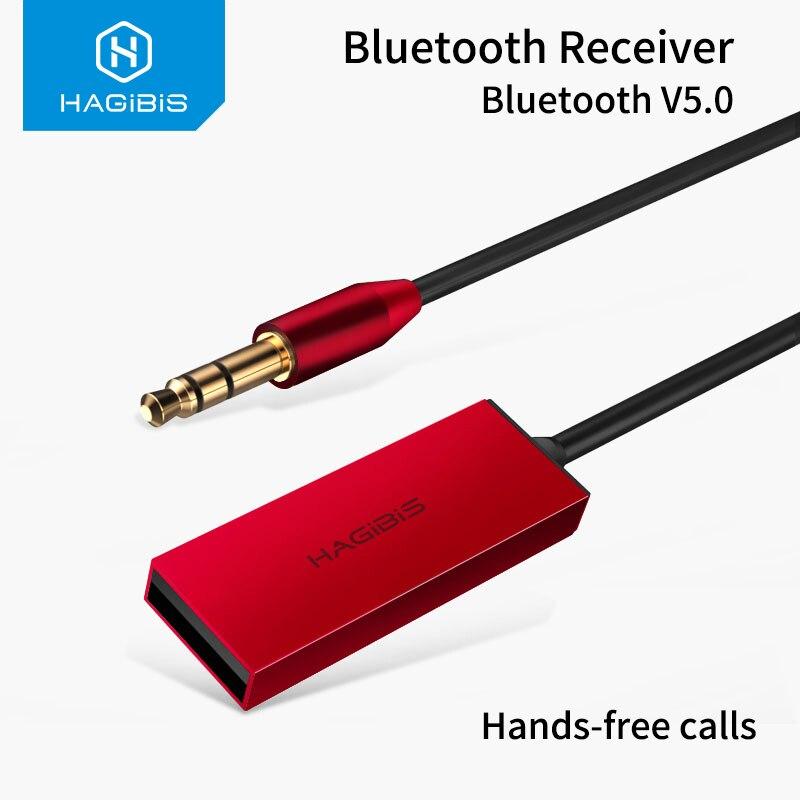 Hagibis Bluetooth Empfänger Bluetooth 5,0 Adapter AUX Audio 3,5mm Jack Stereo Drahtlose Sender Für Auto Lautsprecher Kopfhörer