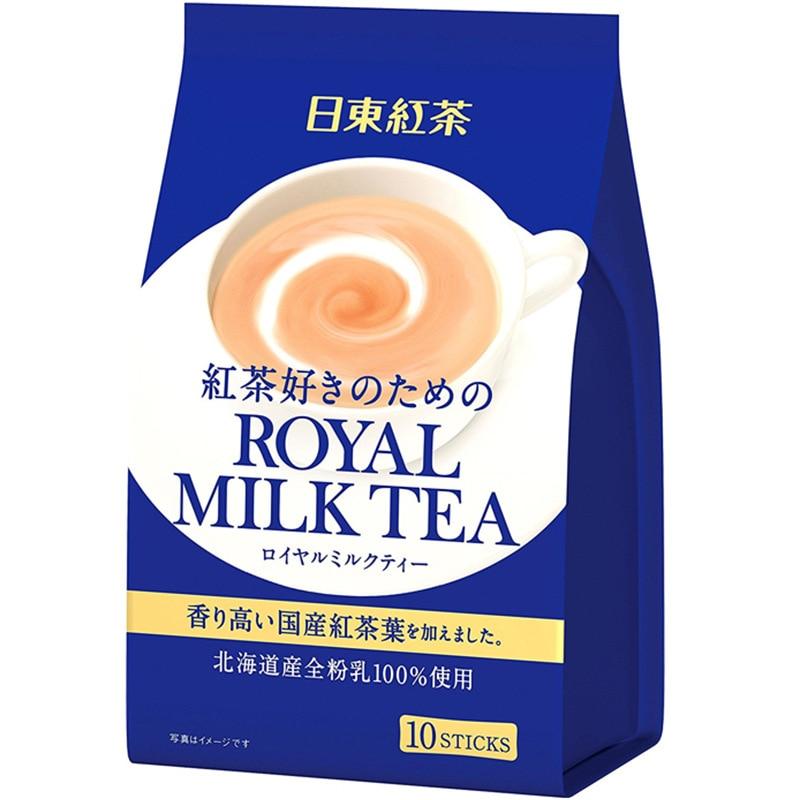 Японский импортированный 140 г (14 г * 10 шт.) черного чая ROYAL Ridong и молочного чая моментальные королевские заваренные напитки