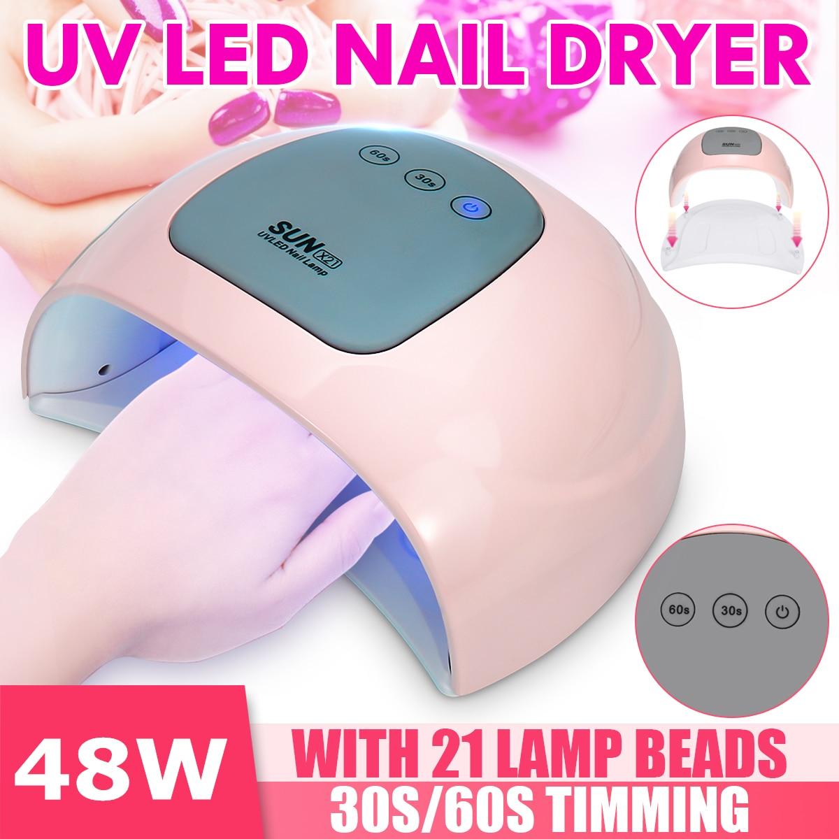 36/48W Nail Dryer Fast Speed Gel Light Nail Lamp LED UV Lamps For All Kinds Of Gel Nail Art Care Sanding Buffer