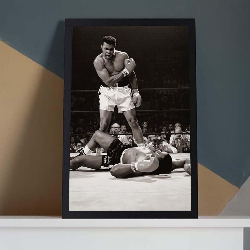 Классический Мухамед Али Картина на холсте Известный боксер вдохновляющий постер настенная Художественная печать картинки для гостиной д...