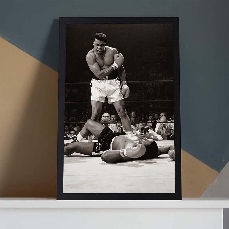 Classique Muhammad Ali toile peinture célèbre Boxer inspirant affiche mur Art imprimer des images pour salon décor à la maison
