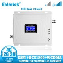 Lintratek GSM 2G 3G 4G Signal Booster répéteur Tri bande téléphone portable cellulaire gsm 900 DCS 1800 wcdma 2100 4g amplificateur de Signal