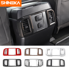 SHINEKA Rear AC Vent Decorative Panel Frame Rear Air Conditioner Outlet Cover Trim  for Ford F150 2015+Car Accessories