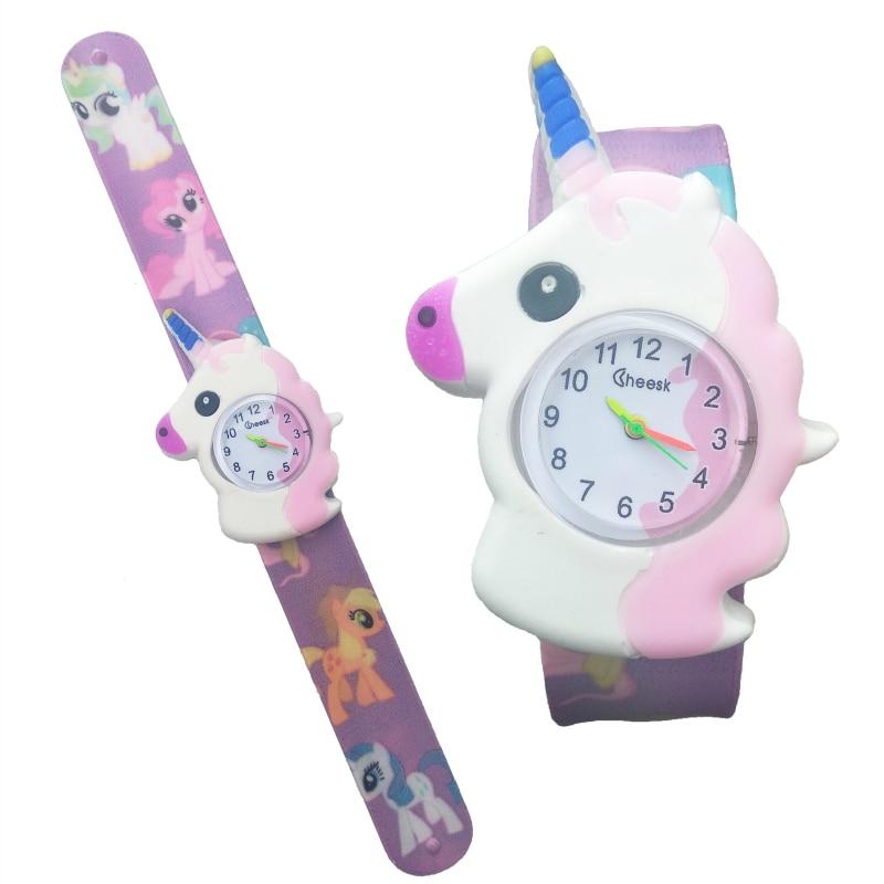 Child Sports Watch Children Cartoon Horse Watch Kids Pat Watchband Analog Child Quartz Watches For Girls Boys Baby Gifts Clock