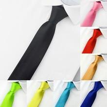 Gravata de pescoço vermelho estreita, casual, estreita, estreita, vermelha, preta, para homens 5cm, acessórios, simplicidade para festa, gravatas formais c005 moda