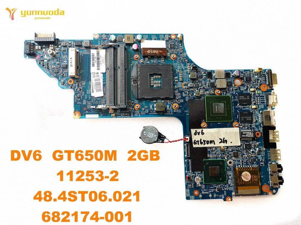 Original For HP DV6 Laptop Motherboard DV6  GT650M  2GB   11253-2  48.4ST06.021  682174-001 Tested Good Free Shipping