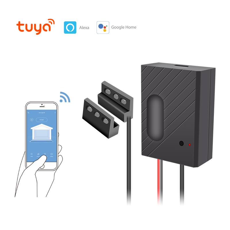 Smart Tuya WiFi Garage Door Automatic Opener Mobile APP Alexa Echo/Google Home Voice Remote Control Door Entry Gate Open & Close